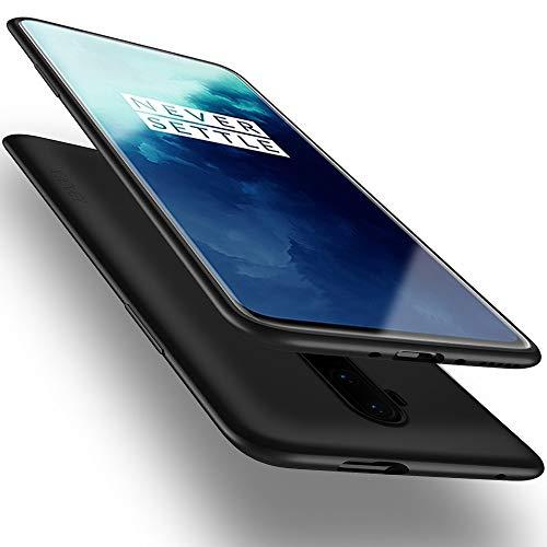 X-level für OnePlus 7T Pro Hülle, [Guardian Serie] Soft Flex Silikon Premium TPU Echtes Handygefühl Handyhülle Schutzhülle Kompatibel mit OnePlus 7T Pro Hülle Cover - Schwarz