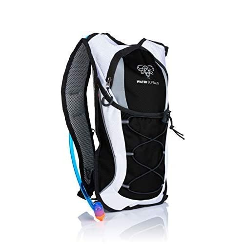 Water Buffalo Hydration Backpack & 2 Liter Water Bladder - Lightweight & Keeps Water Cool for
