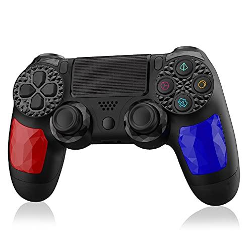 Wireless Controller für PS4,OCDAY Bluetooth Game Controller Gamepad mit Dual Shock Touchpanel-Spielbrett Rechargable Remote Anti-Rutsch Griff Audio-Buchse und sechs Achsen für PS4/PS4 Slim/PS4 Pro