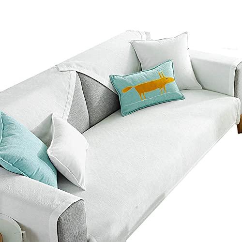 JXJ Funda de sofá Fundas de sofá Fundas de sofá Funda de sofá Funda de sofá elástica Funda de Asiento de sofá Funda de sillón Fundas de Silla para sillones Funda de sofá 70X70, Blanco