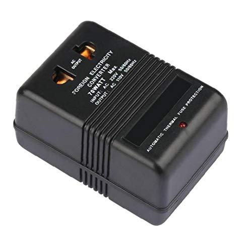 Viajes adaptador convertidor de voltaje de 220V a 110V bajada convertidor 70W inversor de la energía eléctrica del convertidor Negro equipos de regulación de presión