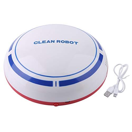 cottonlilac Home Inteligente Barredora de Limpieza Ultrafina de bajo Ruido Totalmente automática Robot Aspirador silencioso Máquina de Barrido - Blanco, Azul y Rojo
