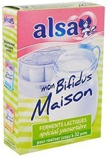 Alsa ferments lactiques spécial yaourtière - MON BIFIDUS MAISON by Alsa
