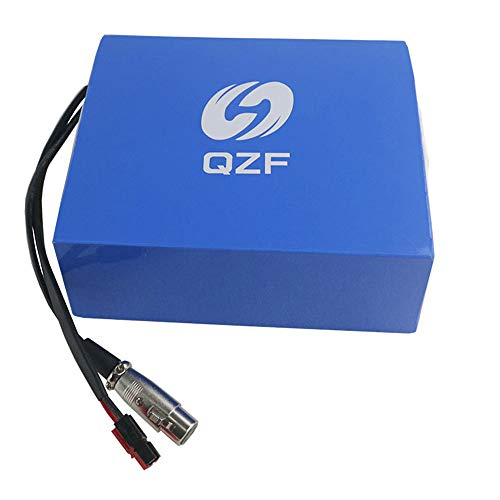 QZF 52V 17.5AH Ebike Battery Waterproof PVC Lithium Battery Pack with Chrgaer and 30A BMS Protection for 1000W 750W 500W Bike Motor Mountain Bike