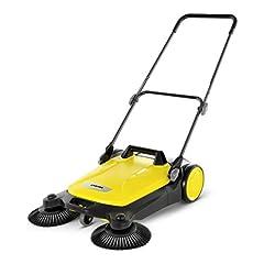 Kärcher sweeper S 4 Twin (max. oppervlaktecapaciteit: 2400m2/h, 2 zijbezem, veegmachine: 20 l, werkbreedte: 680 mm, ruimtebesparende opbergruimte, in hoogte verstelbare duwbalk)*