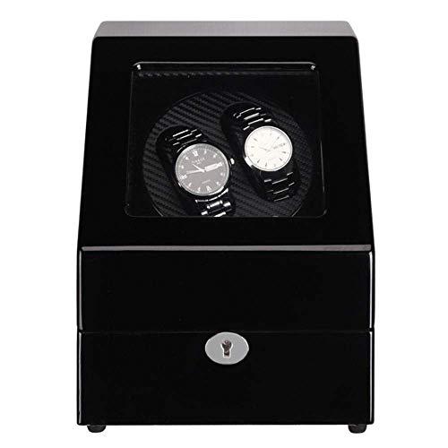 LJW Reloj DE Reloj AUTOMÁTICO Caja Reloj automático Winder con Motor silencioso y cáscara de Madera, Adaptador de batería o Adaptador de CA 5Rotación 2 + 3   Código de Productos básicos: LJW-15