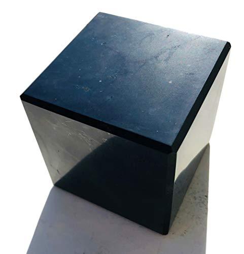 Schungit Würfel 5X 5cm poliert Heilstein russischer Schungit Schungitpyramide Edelsteinpyramide Schungite