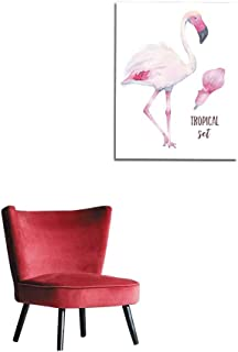 longbuyer Painting Post Watercolor Hand Painted Tropical Pink Flamingo and Calla Lily Flower Isolated on White Background Mural 24