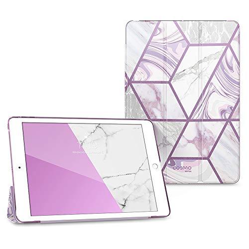 i-Blason Cosmo Lite Hülle für iPad 8. / 7. Generation, iPad 10.2 2020 2019 Hülle, Slim Trifold Stand Smart Hülle Translucent Hard Back Schutzhülle mit Auto Sleep/Wake (Ameth)