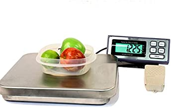 Food Scale, 25 LB x 0.005 LB Tree PIZA Digital Portion Control Pizza Scale With Foot Tare Switch NEW