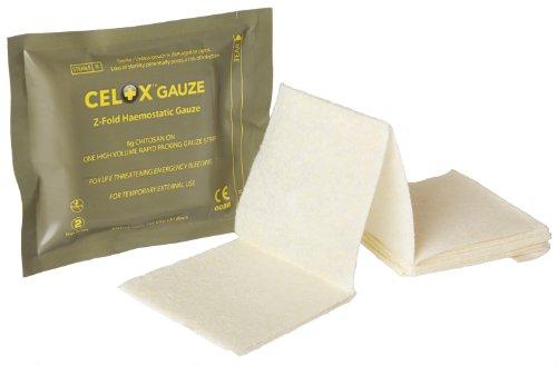 CELOX gasa, Z. hemostáticos gasa 8G quitosano en un alto volumen rápida tira de gasa de embalaje, envasados al vacío