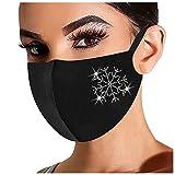 Yowablo 𝐌𝐮𝐧𝐝𝐬𝐜𝐡𝐮𝐭𝐳 Erwachsene Weihnachten/Halloween Black Friday Angebote Modische Hot Diamond Printing Atmungsaktive Mode Ice Cotton (1pc,2A)