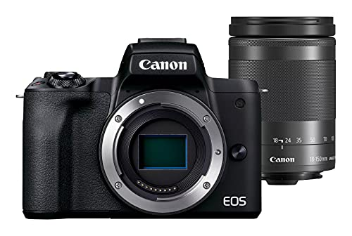 Canon EOS M50 Mark II + lente EF-M 18-150 mm F3.5-6.3 IS STM (24.1 MP, pantalla...