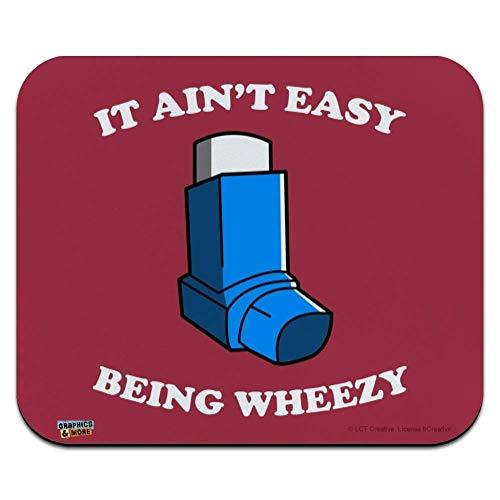 Es Ist Nicht Einfach, Wheezy Asthma Inhalator Zu Sein Lustiger Humor Rutschfestem Maus Mat Ultradünner Mauspad Laptop/Pc Maus Pad Für Office,Geschenk,Gaming,25X30Cm