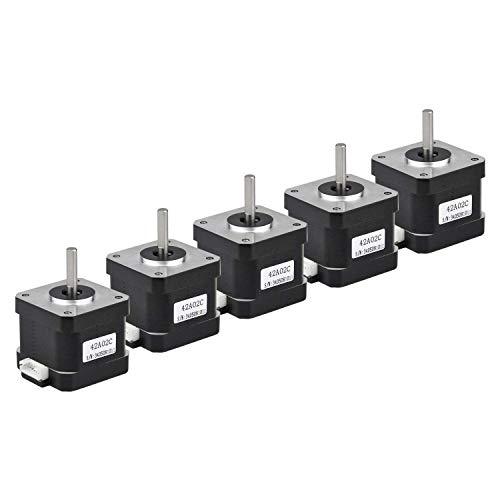 Motor paso a paso 42A02C, 2 fases, Nema 17, Arduino Mini, Stepping, 42 Ncm, 1,5 A, corriente 38 mm, longitud bipolar 4,5 mm, onda con cable de 30 cm para impresión 3D, CNC, 42A02C-XH2.54, 5