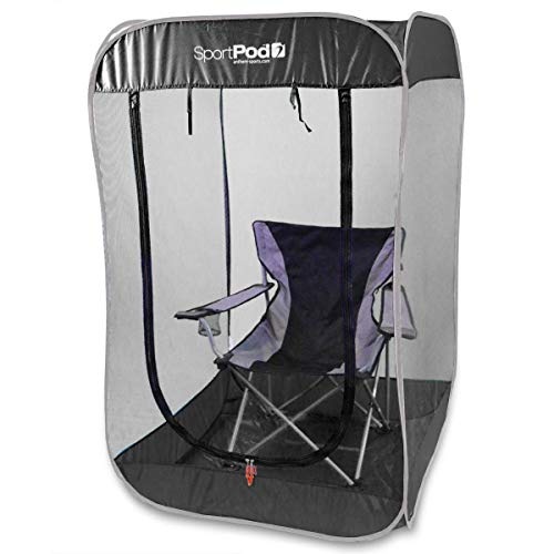 BugPod Undercover SportPod Pop Up Insect Screen Pod Tent - Black