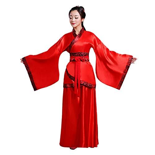 Xinvivion Hanfu Vestido para Mujer - Antiguo Estilo Chino Tang Suit Princesa Chaise Vestido Traje de Rendimiento