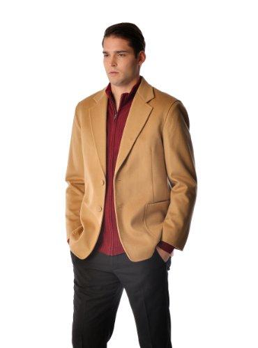 Cashmere Boutique: Cashmere Sport Coat for Men (Color: Black, Size: 40)