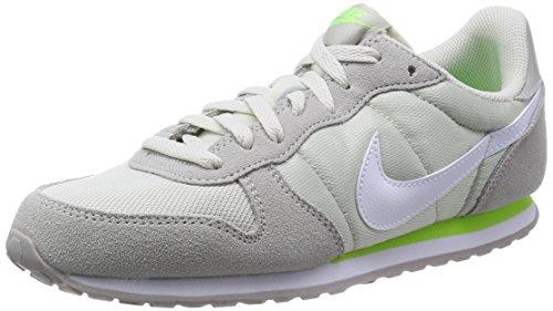Nike Genicco - Zapatillas de running de material sintético para mujer, Gris / Plata / Blanco / Verde, 36.5
