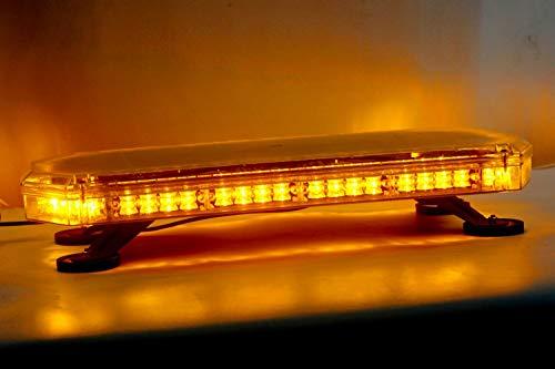ZONCENG Lampe clignotante stroboscopique 56 LED pour voiture, camion, véhicule universel 10–30 V (ambre)
