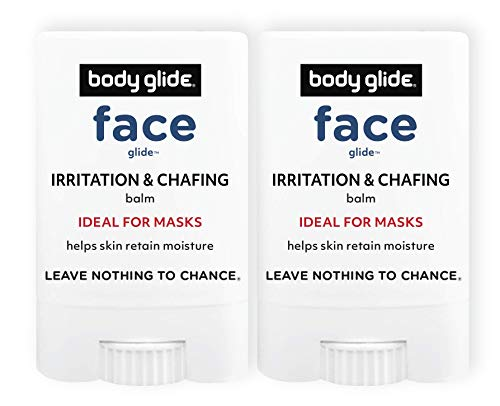 BodyGlide Face Glide Anti Irritation and Chafing Balm to Protect Face & Ears, 0.35oz, 2-Pack (USA Sale Only)