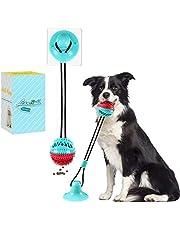Lzansuii Przyssawka dla psa, zabawka do żucia dozowania żywności z mocną przyssawką (z 1 * ulepszoną naklejką z przyssawką), interaktywna smycz do treningu zębów zębów trzonowych szczeniaka, dla psa kota pielęgnacja zębów czyszczenie zębów
