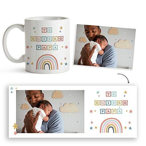 Fotoprix Taza Personalizada con Foto para Papá | Regalo Original día del Padre | Varios diseños Disponibles. (Diseño: Padre 2)