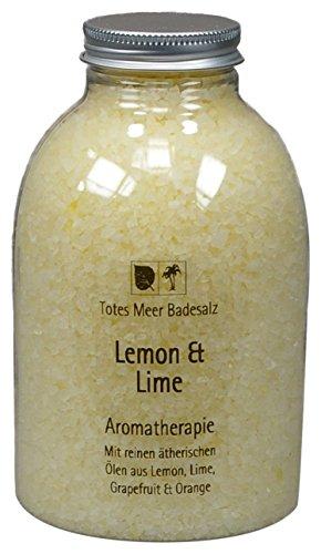 Totes Meer Sel de bain naturel Lemon et citron vert 630 g Parfum aux huiles essentielles de citron, citron vert, pamplemousse et orange.