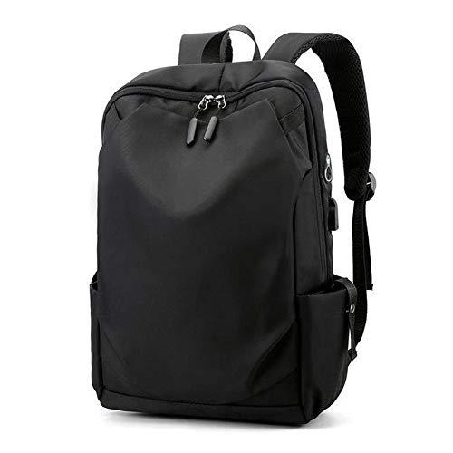 Backpack IBHT Waterproof Nylon Men Backpacks 14 Inch Laptop Backpack Casual Men Travel Bagpack Teenage Boy School Bookbag Black