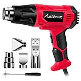 Avid Power Heat Gun, Heavy Duty Hot Air Gun 1800W with Dual Temperature Settings (716℉/1205℉), 4-pc Nozzle Attachments for Crafts, Shrinking PVC, Stripping Paint