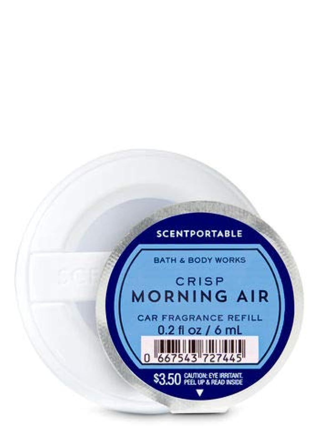 黒人ティッシュ臭い【Bath&Body Works/バス&ボディワークス】 クリップ式芳香剤 セントポータブル詰替えリフィル クリスプモーニングエアー Scentportable Fragrance Refill Crisp Morning Air [並行輸入品]