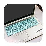 Funda protectora para teclado Lenovo IdeaPad 330 320 320-17 330-17 HD - i5-8250U de 17 pulgadas, color blanco y azul