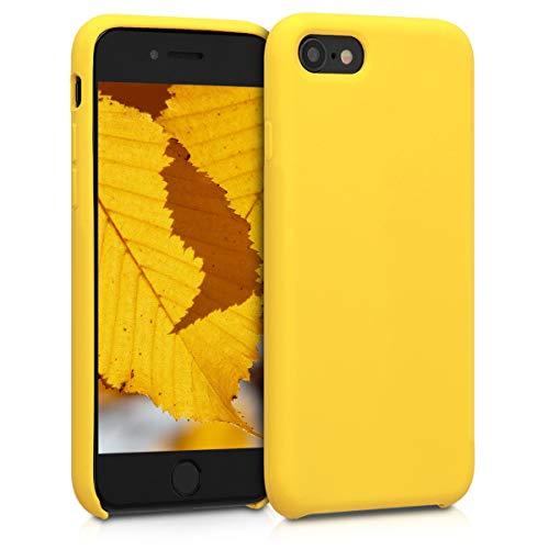 kwmobile Hülle kompatibel mit Apple iPhone 7/8 / SE (2020) - Handyhülle gummiert - Handy Case in Vibrant Yellow