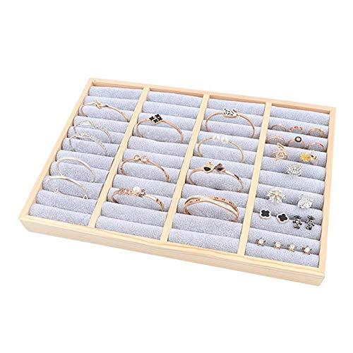 Chytaii - Expositor de pendientes, soporte de pulsera, organizador de joyas, compartimentos para organizar o mostrar joyas