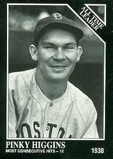 Pinky Higgins Baseball Card (Boston Red Sox) 1991 Sporting News Conlon Collection #271