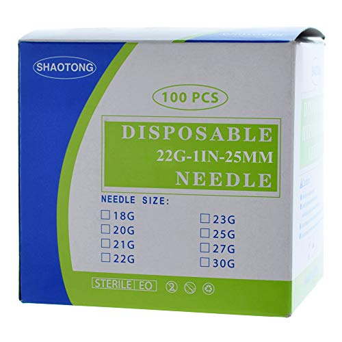 Disposable Sterile 100Pack (22G-1IN/25mm)