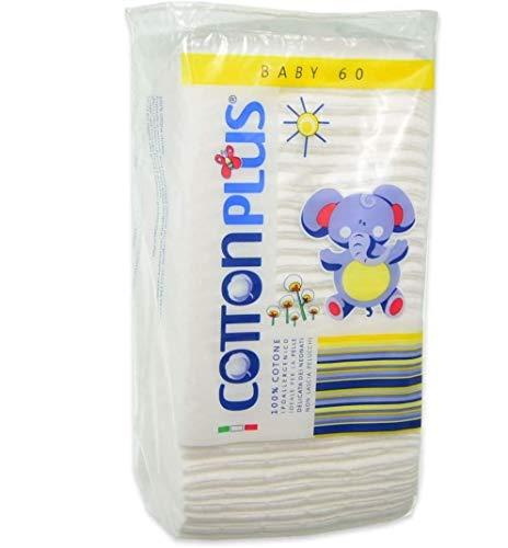 Cotton Plus Quadrotti Baby 100% Cotone 60 pezzi - 16 confezioni