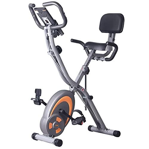LACALA Bicicleta de Fitness Giro en casa Controlado magnéticamente Equipo de Entrenamiento Interior silencioso Ejercicio Nivel estacionario Plegable Resistencia magnética Ajustable Altura del Asiento
