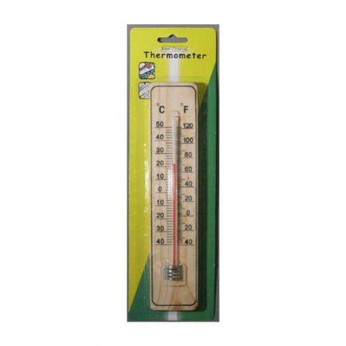 Thermometer Holz Nostalgie Stil für Inen und außen Temperaturmessgerät Grad und Fahrenheit