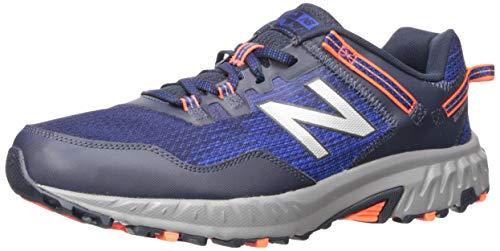 New Balance Men's 410v6 Cushioning Trail Running Shoe, Team Royal/Alpha Orange/Eclipse, 7 4E US