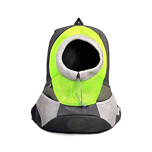 HUI JIN 1 Pc Breathable Mesh Cat Puppy Dog Carrier Backpack Bag Large Size Green