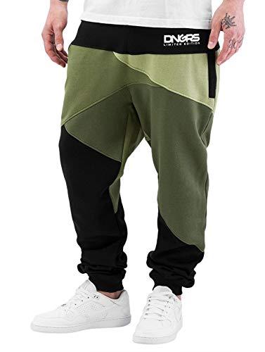 Dangerous DNGRS Herren Jogging Hose Baggy Sweat Pants Locotay H2458, Farben:Grün, Größe Hosen:XXL