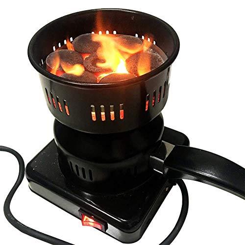 Shopps Elektrokohle-Starter, Feuer-Brenner-Ofen für Huka - Multifunktionssicherheits-dauerhafte Porzellan-Beschichtung Abnehmbare Griff-Passungen im Freien reisendes Picknick