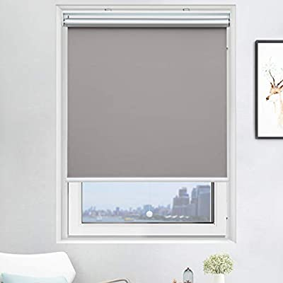 """Cordless Roller Shades Light Blocking UV Protection Window Shades for Home, Hotel, Club? Grey 33x72"""""""