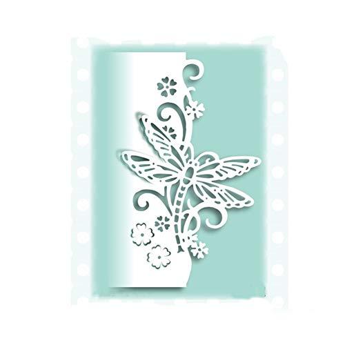 Blumen-Libelle Stanzschablonen Kohlenstoffstahl Schneiden Schablonen DIY Sammelalbum Set Scrapbooking Papier Karten