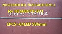 LED46K270D LED strip 2012CHI460 B31 7020 64LED REV1.1 for HE460GFD-B31 1PCS=64LED 586mm