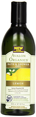 Avalon Organic Botanicals, Bath & Shower Gel, Lemon, 12 oz