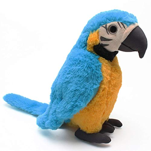 Levenkeness Macaw Parrot Plush, Blue Bird Stuffed Animal Plush Toy Doll Gifts for Kids 9.8'