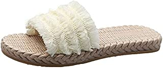 CHENDX New Casual Summer Female Flat Slippers Beach Bohemian Comfortable Slippers Sandals