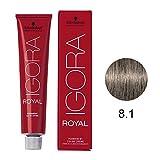 Schwarzkopf Professional Igora Royal Permanent Hair Color, 8-1, Light Blonde Cendre, 60 Gram